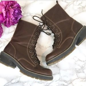 **ISO** LOWER EAST SIDE BROWN COMBAT BOOTS!!!